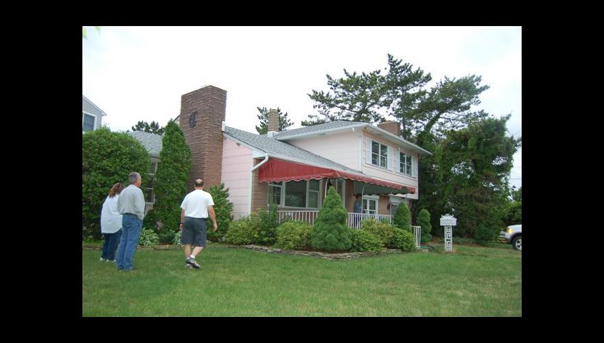 original rear of house